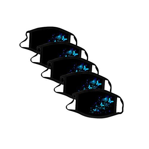 Sonojie Sturmhauben Halstuch Damen Komisch Bedruckter Sonnenschutz UV-Schutz Atmungsakti Schal Mundschutz Kopftuch aus Mikrofaser- fürs Motorrad-, Fahrrad- und Skifahren draussen Nahtloses