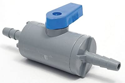 Ball Valve, 1 Pc, 3/8 In, PVC, Hose Barb by Smc