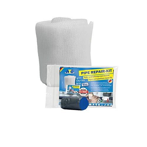Rohrreparaturband Rohrisolierung Starke Reparatur - Rohr Reparaturset   Hohe Druck und Temperaturbeständigkeit   Selbstklebend