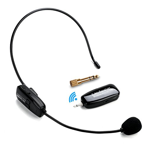 2.4G Kabelloses Mikrofon, Jelly Comb Drahtlose Übertragung Headset Mikrofon Speaker 2 in 1 Wiederaufladbar Wireless Microphone für Konferenzen, Unterricht, Reiseleiter