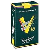 CAÑAS SAXOFON ALTO - Vandoren V16 (Caja Verde Oscuro) (Dureza 3 ½) (Caja de 10 Unidades)