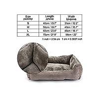 小中大犬マットベンチラウンジチェア猫チワワの子犬のベッド犬小屋猫ペットハウス用品、グレイXr0004、Lとして、写真のためにペットの犬のベッドソファビッグドッグベッド