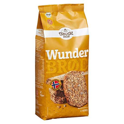 "Bauckhof Brotbackmischung \""Wunderbrd\"" mit Gold-Leinsaat, glutenfrei (600 g) - Bio"