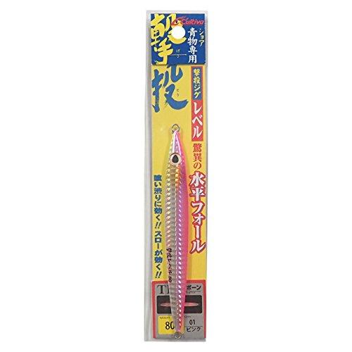 OWNER(オーナー) メタルジグ ルアー GJL-80 撃投ジグレベル 80g ピンク #1 31873