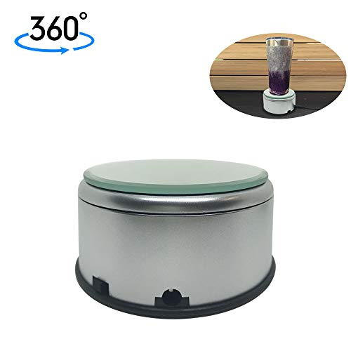 Display Turner for Epoxy Glitter Tumblers 360 Degree Rotating Display Stand Turntable Automatic Revolving Platform Perfect for Displaying Glitter Cups
