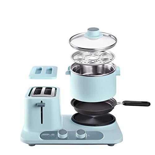 BNMMJ Elektro Brot Toaster Backofen Mini Multicooker Sandwich Backen Eierkocher Food Steamer Omelett Bratpfanne Frühstücksmaschine