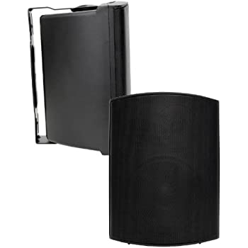 Earthquake Sound AWS-602B All-Weather Indoor/Outdoor Speakers (Matte Black, Pair)