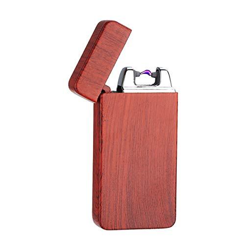 Oumosi Oumosi USB Wiederaufladbare Elektronisch Dual Arc Feuerzeug Windproof Flammenlose Kein Gas Zigarettenanzünder Zündung mit USB-Ladekabel für Männer Beste Geschenk A01