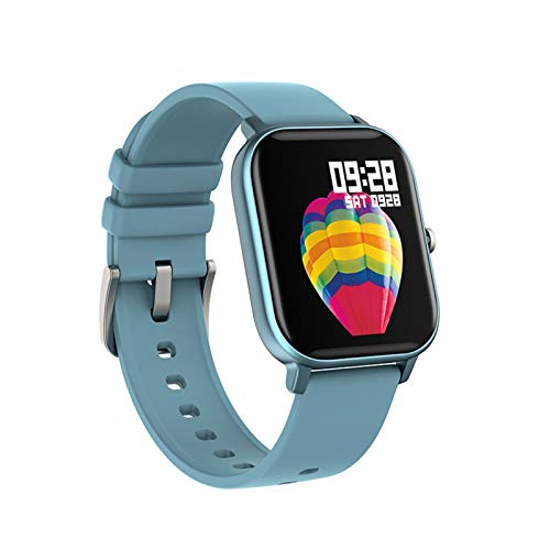 Smart Watch Men Mujeres IP67 Impermeable Fitness Tracker Deporte Monitor De Ritmo Cardíaco Toque Full Touch Smartwatch para Amazfit GTS Xiaomi (Color : Blue)