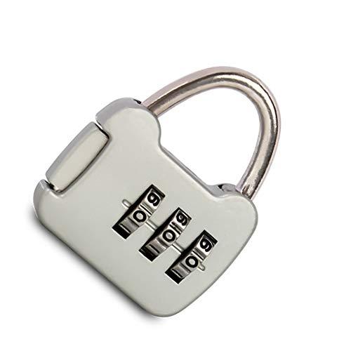 VONKY Mini 3 Digit Combination Password Lock Alloy Security Lock Suitcase Luggage Coded Lock Cabinet Locker Padlock