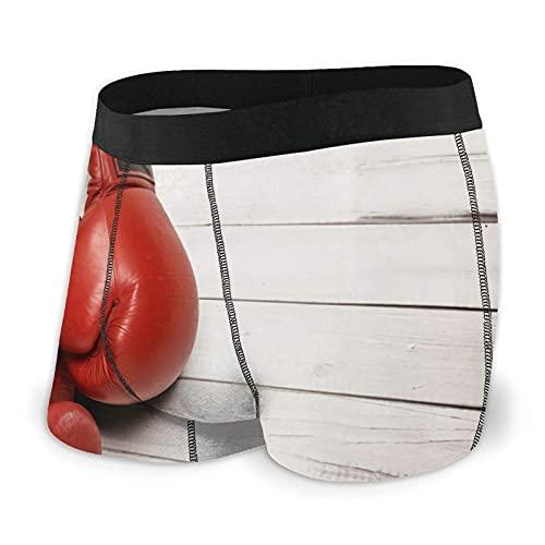 Bingyingne Mens Boxer Briefs Red Boxhandschuhe weiche Unterwäsche Klassische Trunks Unterhose