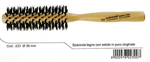 guenzani Brosse professionnelle en bois avec poils en pur sanglier N.223 38 mm