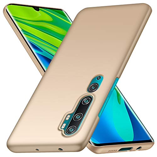 YIIWAY Funda Xiaomi Mi Note 10 / Xiaomi Mi Note 10 Pro, Oro Ultra Slim Protectora Funda Case Duro Cover para Xiaomi Mi Note 10 / Xiaomi Mi Note 10 Pro YW41132