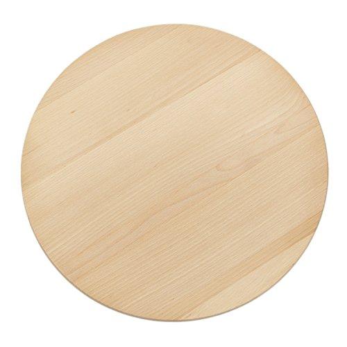 BARTU Pizza Teller 40 cm Holzteller Anrichteplatte Tortenteller Holz Teller
