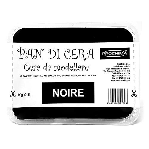 Prochima Pan di Cera, Pasta Morbida Nera da Modellare (Plastilina)