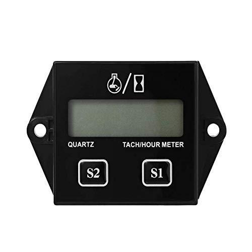 Jayron JR-HM011N Contagiri induttivo contagiri a benzina LCD contachilometri ripristinabile per paramotori,microlight,motori marini-Pompe interne e esterne,Generatori,Mowes
