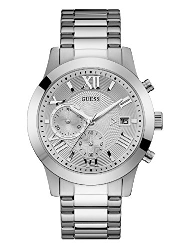 Guess Classic Chronograph Silver Dial Men's Watch W0668G7