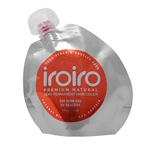 IROIRO Premium Natural Semi-Permanent Hair Color 330 Neon Red (4oz)