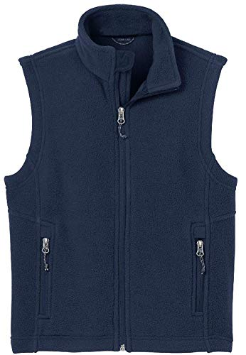 Joe's USA - Youth Soft and Cozy Fleece Vest in Youth Sizes XS-XL True Navy