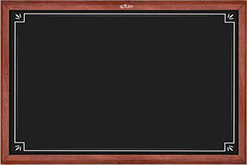 Quadro Negro Decorado 1, 70cm X 50cm, Mad. Pinus Mogno - Souza & Cia (Ref: 2105)