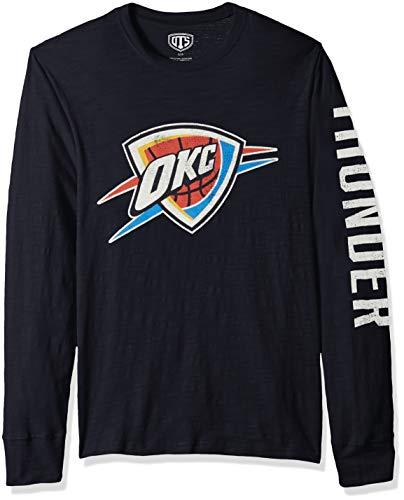 OTS NBA Oklahoma City Thunder Men's Slub Long Sleeve Team Name Tee, Distressed Sinclair, XX-Large