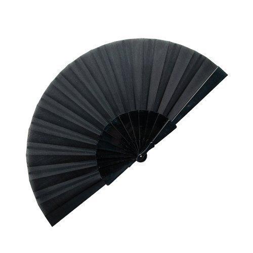 eBuyGB Handheld Pretty Fan, schwarz, 40cm