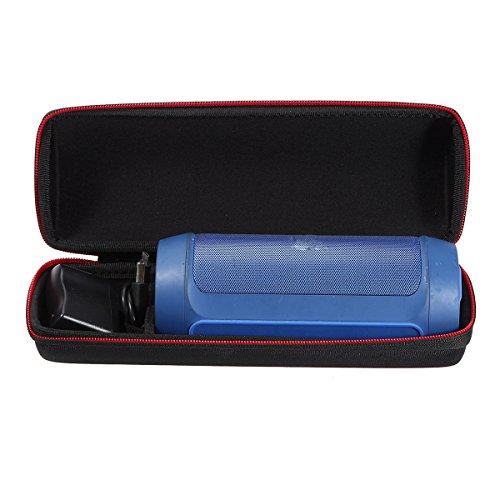 LEORX Eva tragen Fall-Abdeckung Tasche für JBL Charge 2/2 + / 2 Plus, Wireless Bluetooth Lautsprecher Beutel (schwarz)