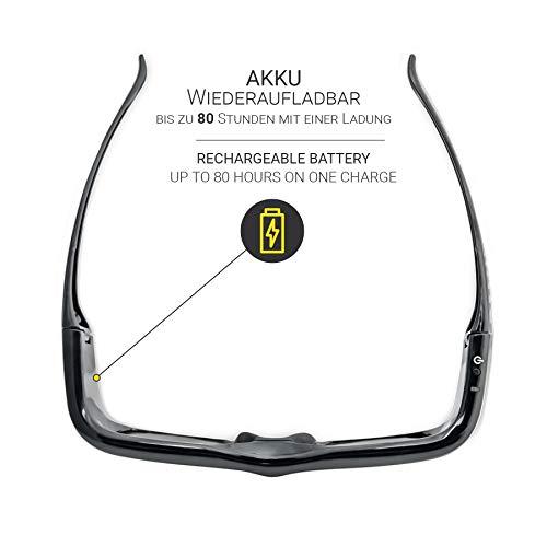 Hi-SHOCK DLP Pro 7G Black Diamond | DLP Link 3D Brille kompatibel für DLP 3D Beamer von Acer, BenQ, Viewsonic, Optoma, LG [Shutterbrille | 96-200 Hz - wiederaufladbar | DLP Link]