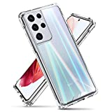 VVUPIC Compatible with Galaxy S21 Case Aurora Clear Bumper Hybrid TPU Rugged Protection only S21
