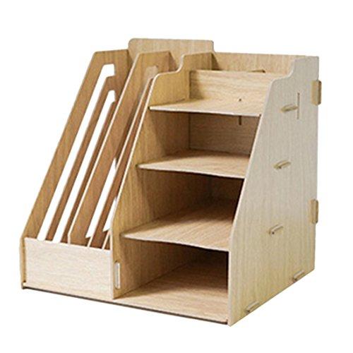 TOBY Abnehmbar Stehsammler Zeitschriftensammler Holz Aufbewahrungsbox Dokumente Bücher Organizer Büro Schreibtisch Organizer