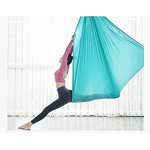 zyy Hamaca De Yoga Aérea Seda Pilates Columpio Yoga Colgante De Techo Honda Yoga Oscilación Inversión por Principiantes Los 5m * 2.8m (Color : Blue-Green)