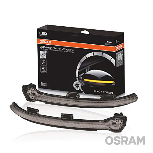 Osram LEDDMI 5G0 BK S LEDriving dynamischer LED Spiegelblinker für VW Golf VII-Black Edition, Set of 2