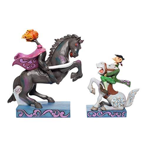 Enesco Jim Shore Disney Traditions Legend of The Sleepy Hollow Headless Horseman and Ichabod Crane Figurine Set, 7.09 Inch, Multicolor