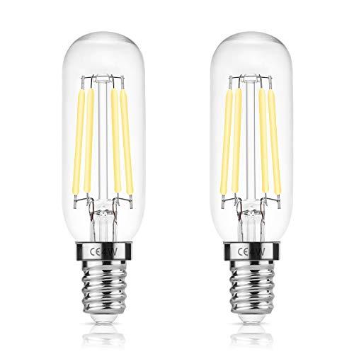 DORESshop E14 LED Leuchtmittel für Dunstabzugshaube, 4W Dunstabzugshaube lampe, T25 400LM Edison Glühlampe, Ersetzt 40 Watt, Kaltes Weiß 6000K, Nicht Dimmbar, Glühbirne für Dunstabzugshaube, 2er-Pack