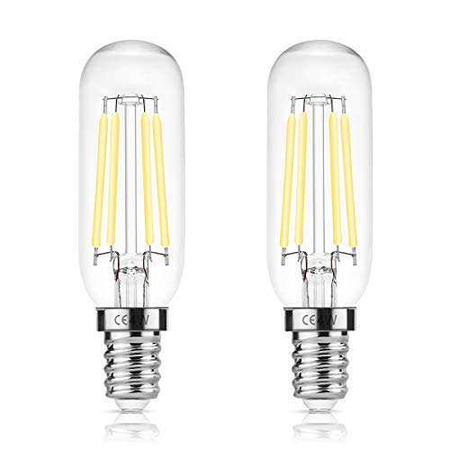 DORESshop E14 T25 LED 4W=40W - Campana extractora, 400LM, bombilla de incandescencia Edison, blanco día 6000K, no regulable, lámpara para electrodomésticos para campana extractora, paquete de 2