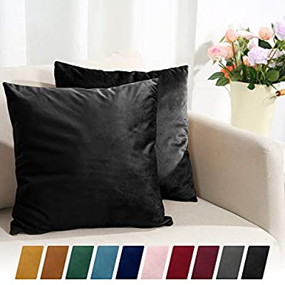 Sleep Mantra Decorative Pillow Covers, Pack of 2, Solid Color Soft Pillow Cases