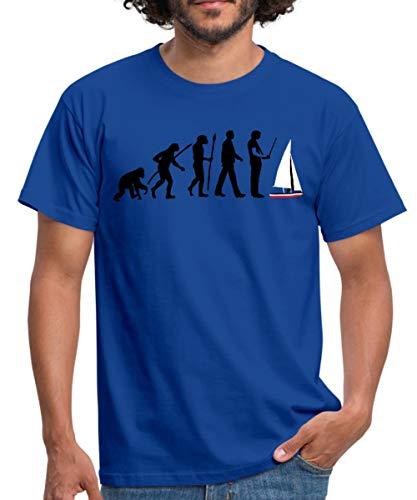 Evolution Modellbauschiff Männer T-Shirt, L, Royalblau
