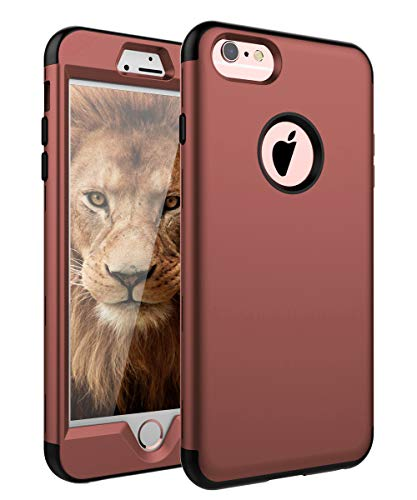 SKYLMW iPhone 6 Plus Case,iPhone 6s Plus Case, Three Layer Heavy Duty High Impact Resistant Hybrid Protective Cover Case for iPhone 6 Plus/6s Plus (Only for 5.5') Blush Gold