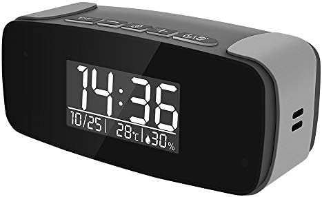 FUPOM Alarm Clock with Wi Fi Camera HD 1080P Wi Fi Live Streaming Video Recorder Wireless IP product image