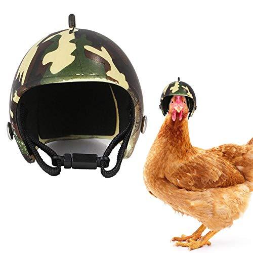 didatecar Huhn Helm Entzückender Helm PP Premium Huhn Aussehen Cooles Zubehör Kleine Haustier Kostüme Für Küken Haustier Papagei Vögel