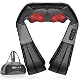 Nekteck Shiatsu Neck and Back Massager with Soothing Heat, Electric Deep Tissue 3D Kneading Massage Pillow for Shoulder, Leg, Body Muscle Pain Relief, Home, Office, and Car Use