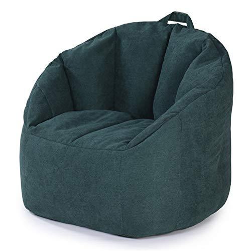 MxZas Haushaltsliege Sofa Couch Liege High Back Bohn Bagstuhl Großer Buttersackstuhl für Erwachsene und Kinder Bohnenaufbewahrungstasche (Color : Dark Green, Size : One Size)