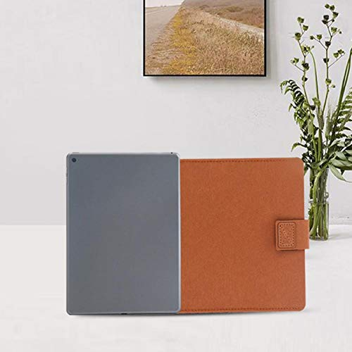 Soporte para computadora portátil de fieltro de lana de tamaño ligero y compacto para el hogar escolar de color caqui(11 inches)