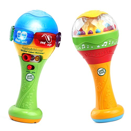 LeapFrog Learn & Groove Shakin' Colors Maracas,Multicolor