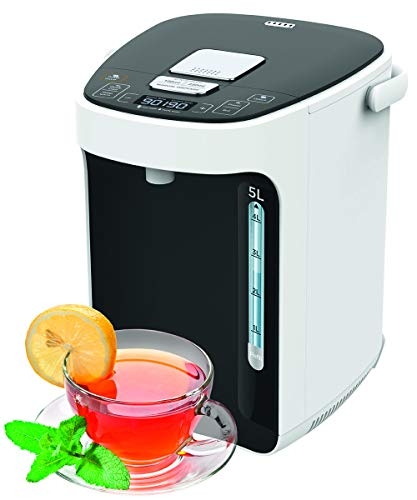 TITAN 2.0 Thermopot 5 Liter   Heißwasserspender   12 Stunden Timer   Wasserspender   Dispender   Thermoskanne   Teekocher   3 Möglichkeiten der Wasserentnahme   LC-Display   Kindersicherung