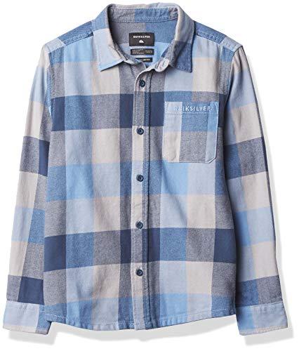 Quiksilver Jungen Flannel Youth Hemd, Blue Yonder Motherfly, Mittel