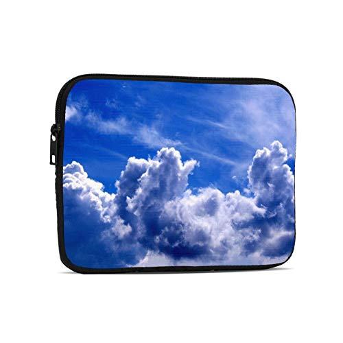 Waterproof Tablet Sleeves Bag Blue Sky Cloud Print Zipper Notebook Laptop Case for Kids Tablet Apple iPad