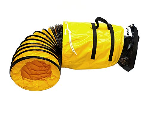 OdorStop Flexible Duct in Various Sizes and Lengths with Connecting Belt (8'x25' (Belt))