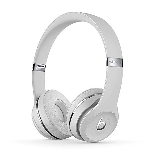 Beats Solo3 Wireless On-Ear Headphones - Apple W1 Headphone Chip, Class 1 Bluetooth, 40 Hours of Listening Time - Satin Silver (Latest Model)