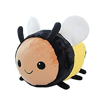 Wgxzyq 8Inch Mini Bee Plush Toy with Smile Face and White Wings Bumblebee Stuffed Animal Toy for Kids Boys and Girls Gift for Birthday Party